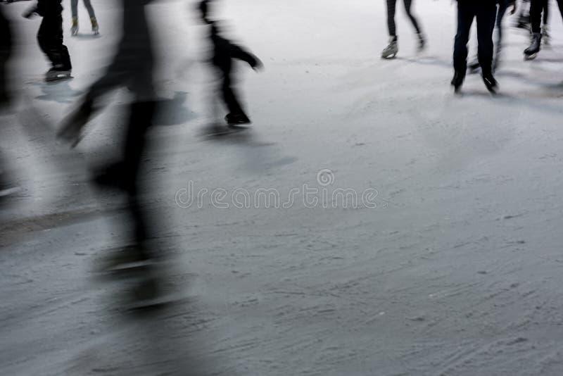 Abrégé sur patinage de glace photographie stock libre de droits