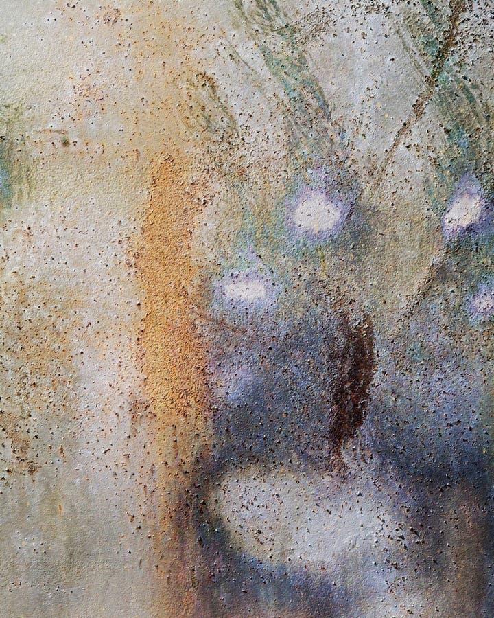 Abrégé sur peint rouille d'accent images libres de droits