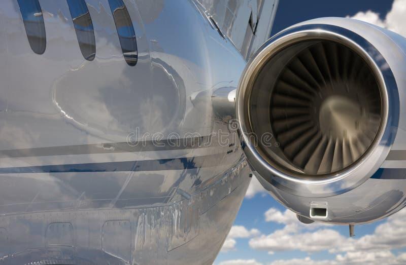 Abrégé sur privé avion à réaction photos stock