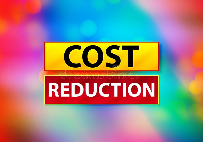 Abrégé sur réduction des coûts illustration colorée de conception de Bokeh de fond illustration stock
