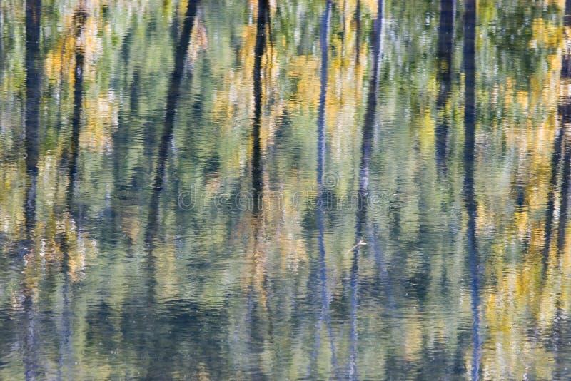 Abrégé sur réflexion de l'eau photographie stock libre de droits