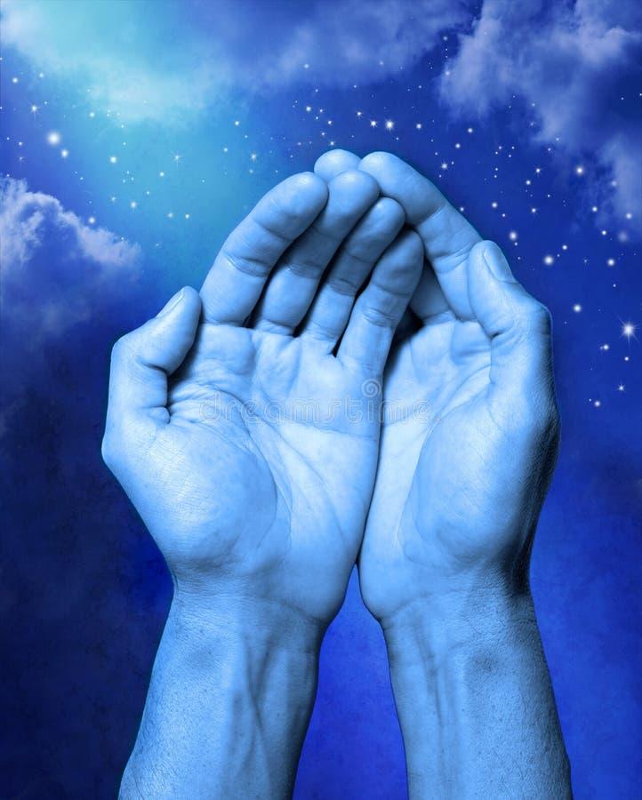 Abrégé sur religion d'aide de mains image libre de droits