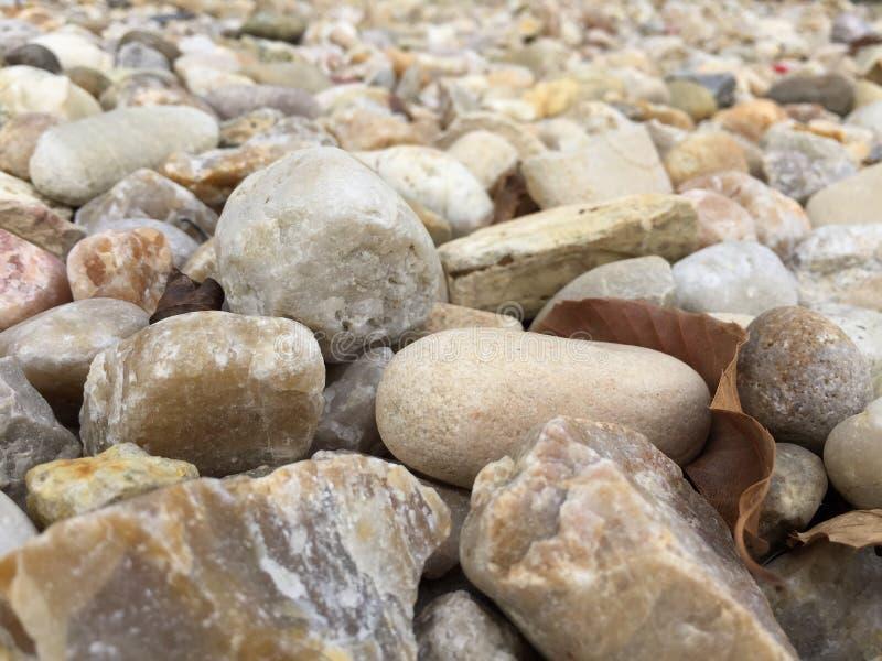 Abrégé sur rocheux et sec lit de rivière photos libres de droits