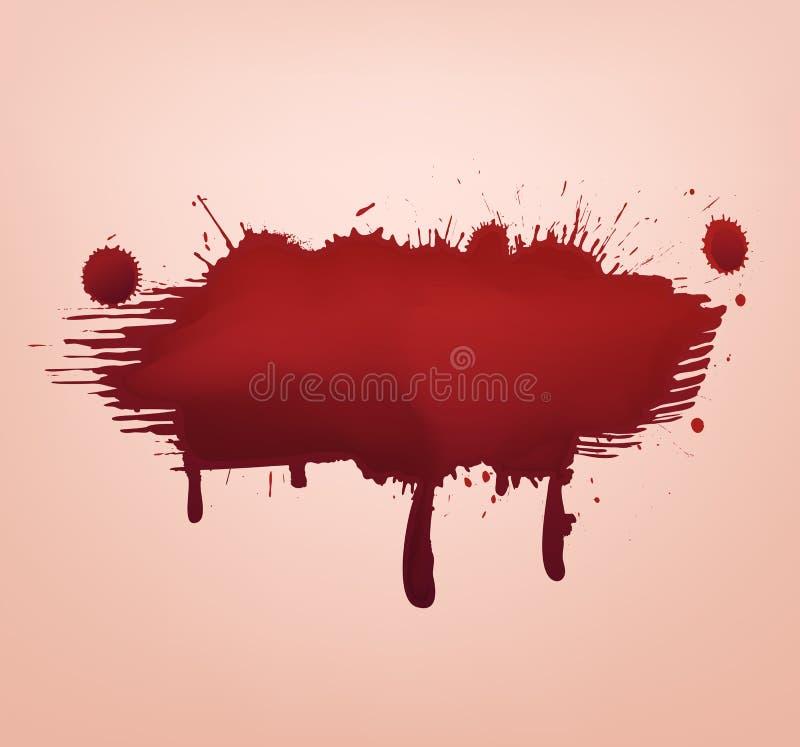 Abrégé sur rouge tache de sang illustration de vecteur