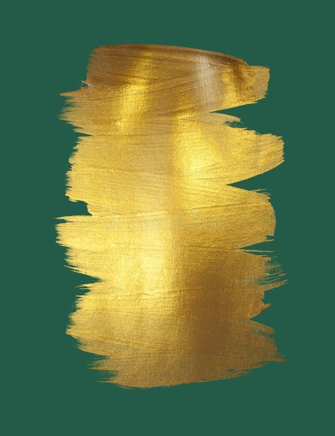 Abrégé sur tache de peinture de texture d'aquarelle d'or images libres de droits