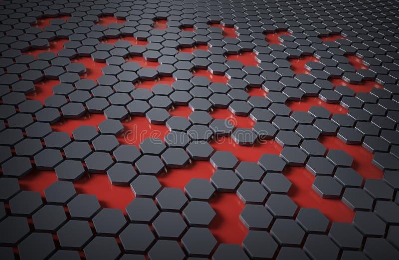 Abrégé sur technologie d'hexa illustration de vecteur