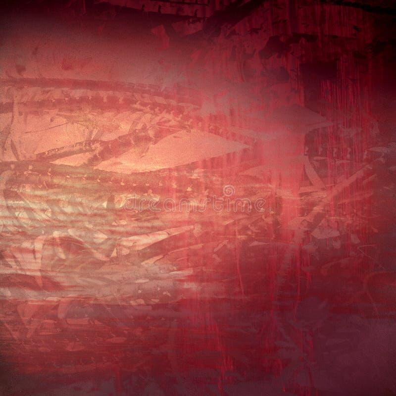 Abrégé sur texturisé rouge grunge organique de technologie image libre de droits