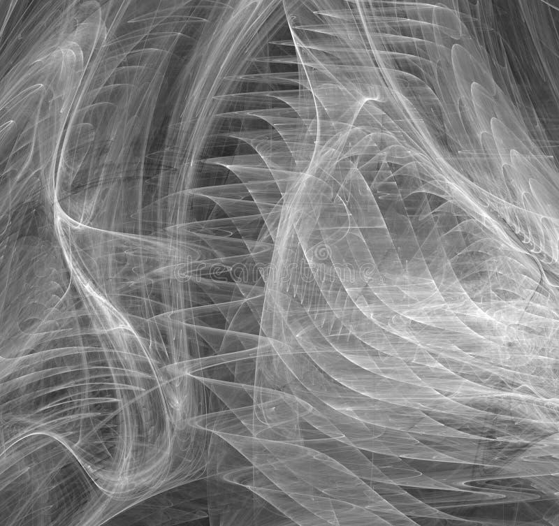 Abrégé sur vague d'ondulation de remous de fumée illustration libre de droits