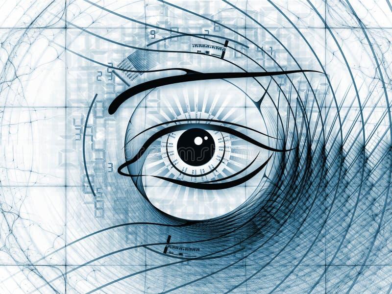 Abrégé sur visibilité de fractale illustration stock