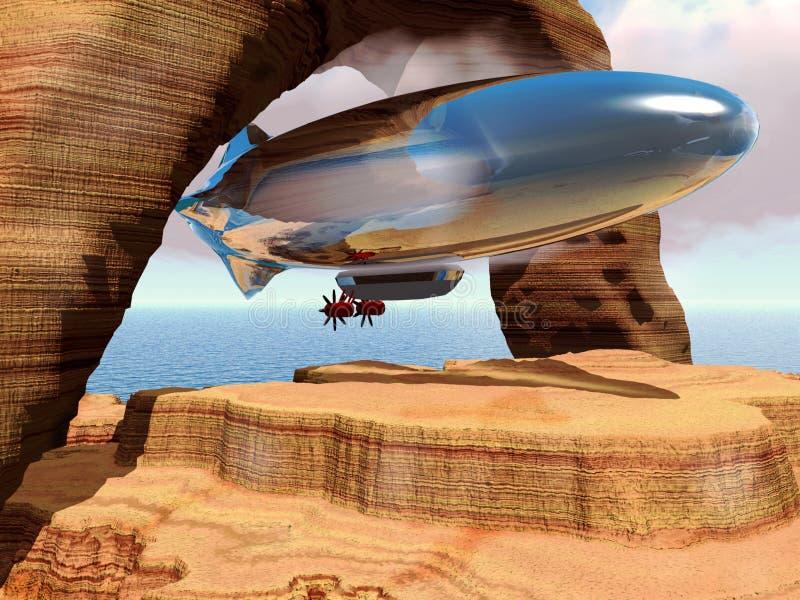 Abrégé sur zeppelin illustration libre de droits