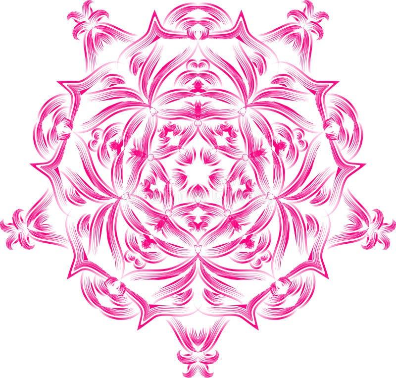 Abrégez l'ornement élément décoratif de conception Mandala floral avec les éléments décoratifs ethniques illustration stock