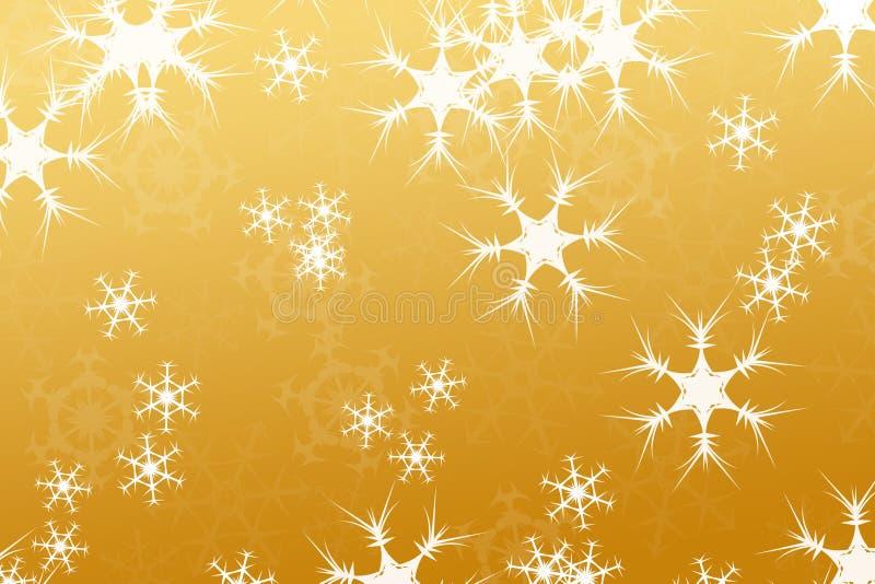 Abrégez la composition, or de fond de neige images libres de droits