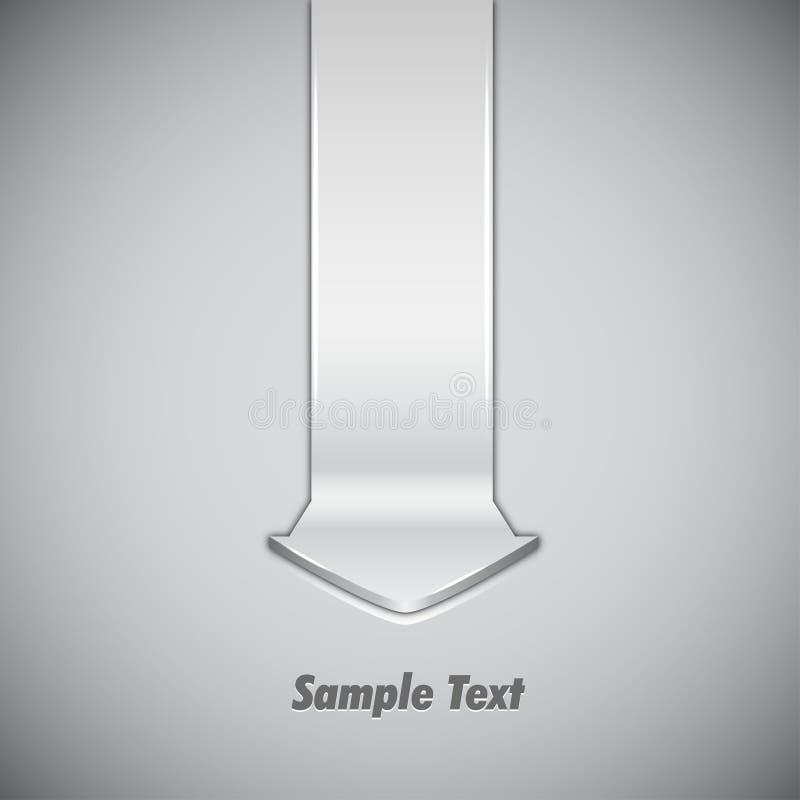 Abrégez la conception avec la flèche illustration stock