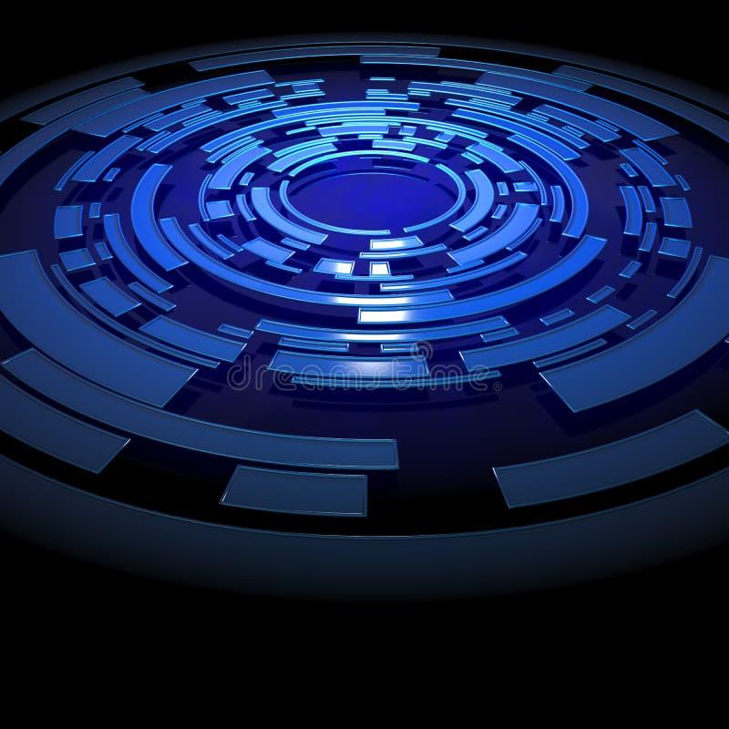 Abrégez la structure circulaire bleue illustration libre de droits