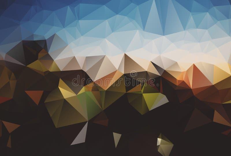 abrégez le fond Fond abstrait coloré pour la conception Modèle de calibre de vecteur Couleurs triangulaires géométriques de mosaï illustration libre de droits