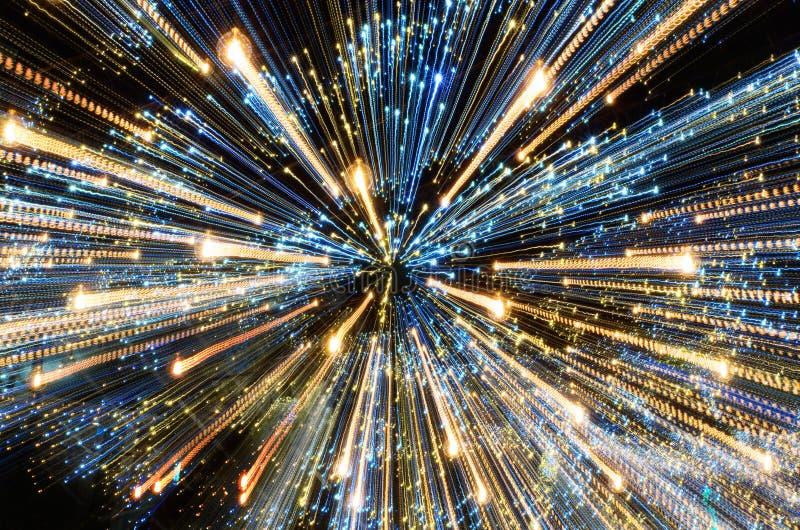 abrégez le fond Bourdonnez dans les lumières Thème de Noël photo libre de droits