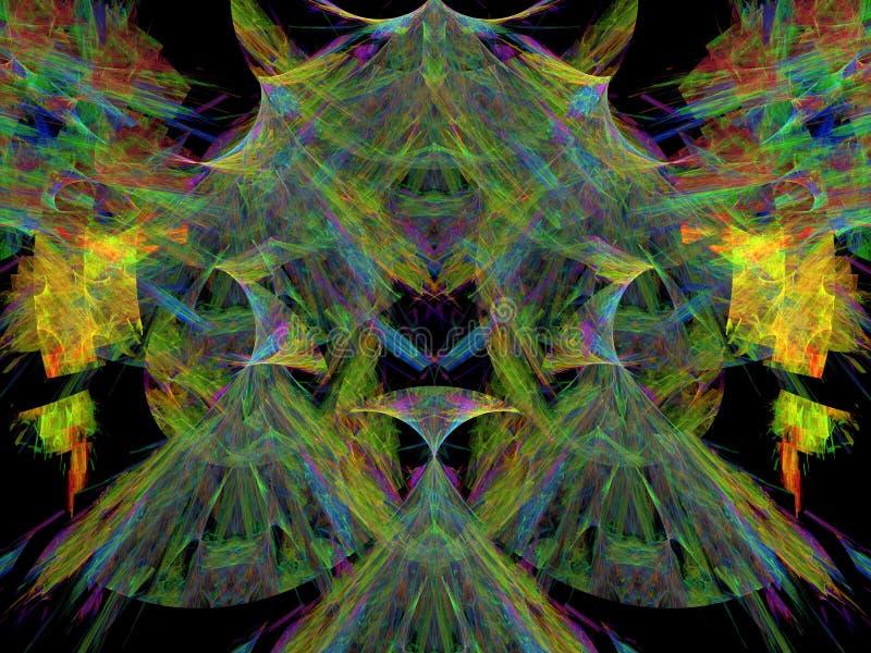 abrégez le fond Collage de Digital illustration stock