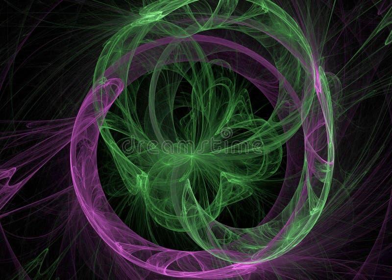 abrégez le fond Collage de Digital avec des fractales illustration libre de droits