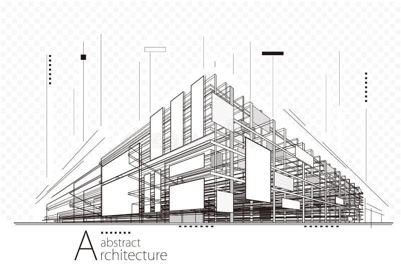 Abrégez le fond d'architecture illustration libre de droits