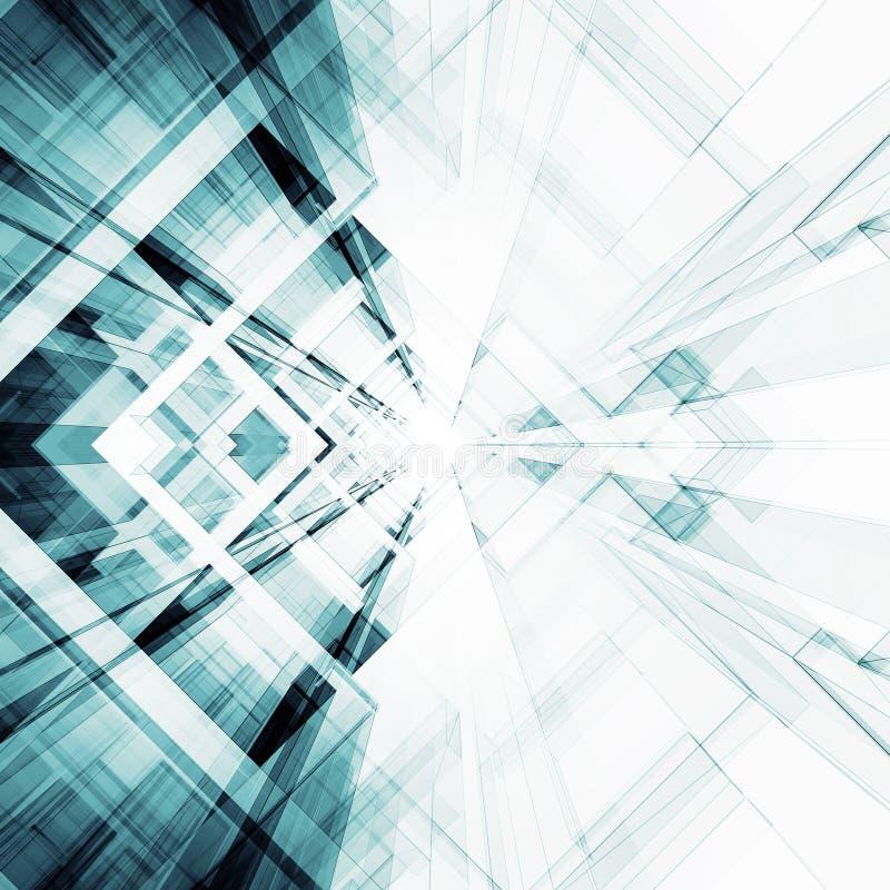 Abrégez le fond d'architecture rendu 3d illustration de vecteur