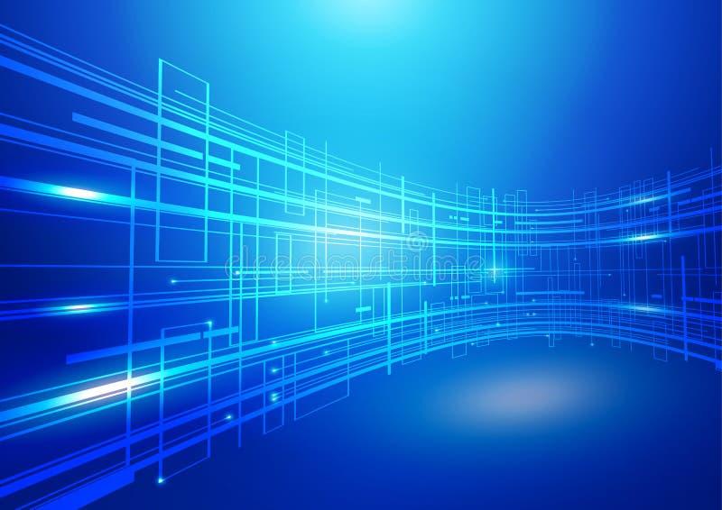 Abrégez le fond de bleu de technologie images libres de droits