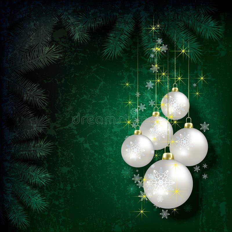 Abrégez le fond de Noël avec des décorations illustration stock