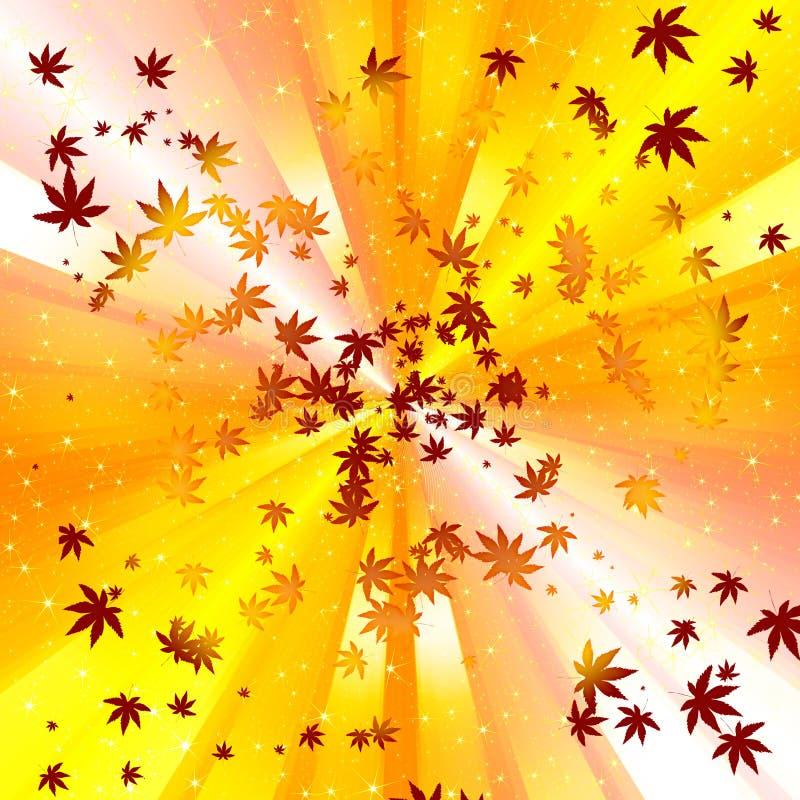 Abrégez le fond de spirale de congé d'automne image libre de droits