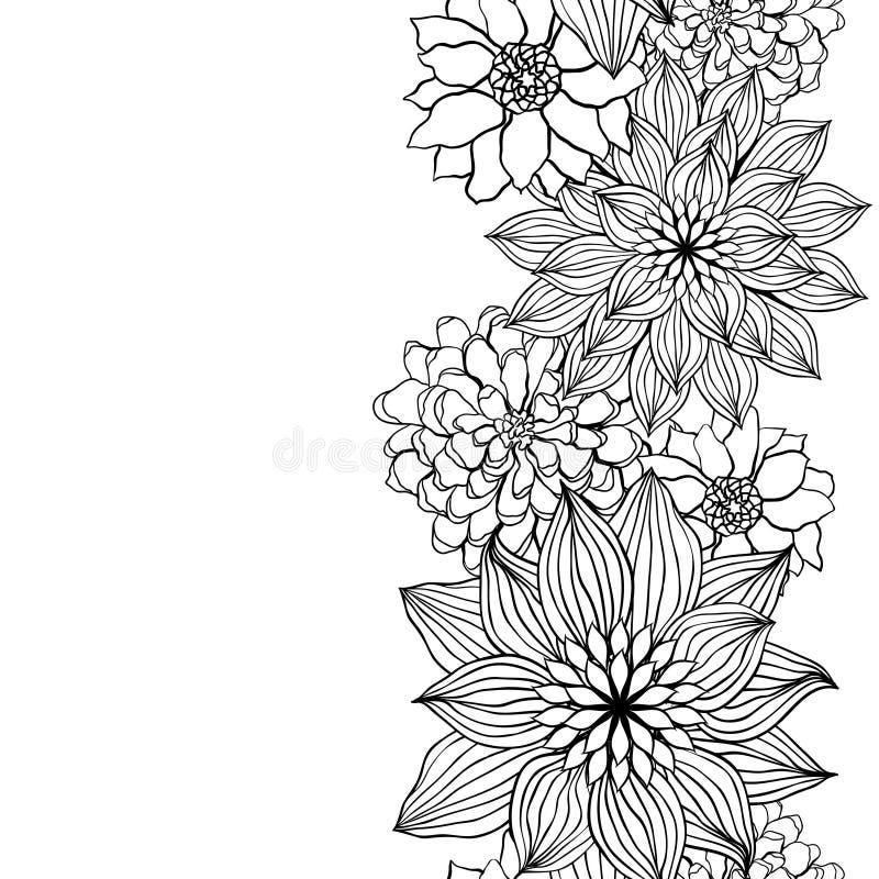 Abrégez le fond floral Élément de fleur de vecteur illustration de vecteur