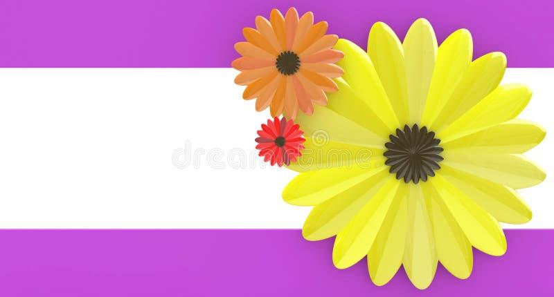 Abrégez le fond floral illustration libre de droits