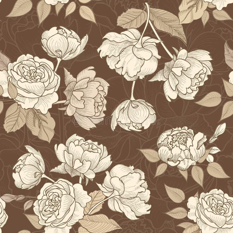Abrégez le fond floral Modèle floirish sans couture de fleur illustration libre de droits