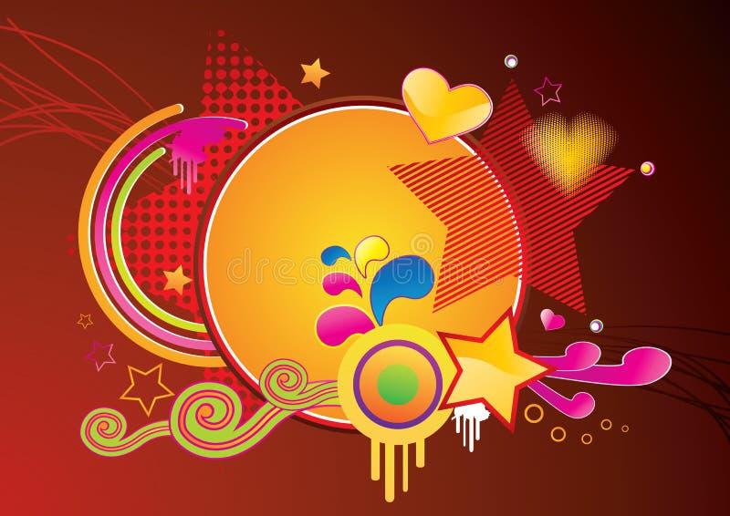 Abrégez le fond génial brillamment coloré illustration de vecteur