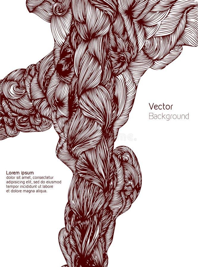 abrégez le fond Le vecteur ondule le fond tiré par la main Vecteur illustration de vecteur