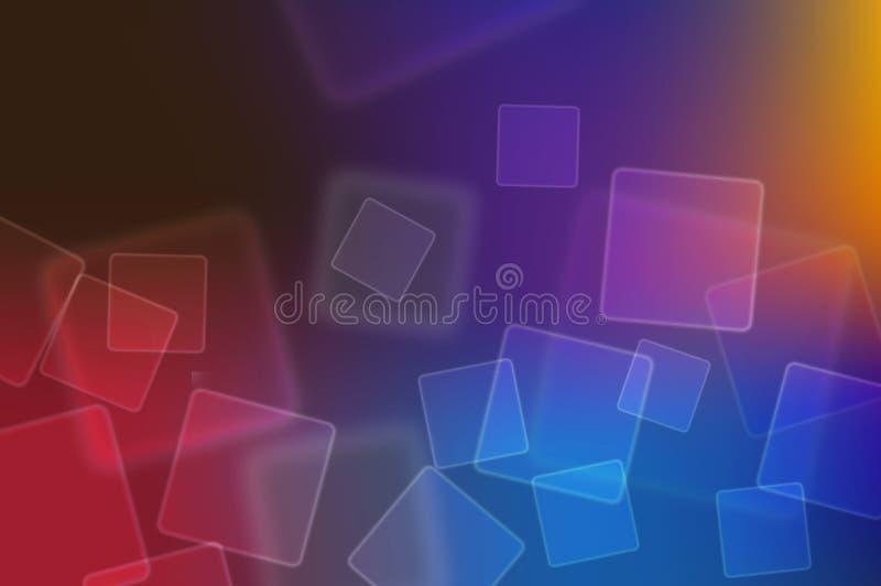 Abrégez le fond rougeoyant de Bokeh dans le bleu, rouge photographie stock libre de droits
