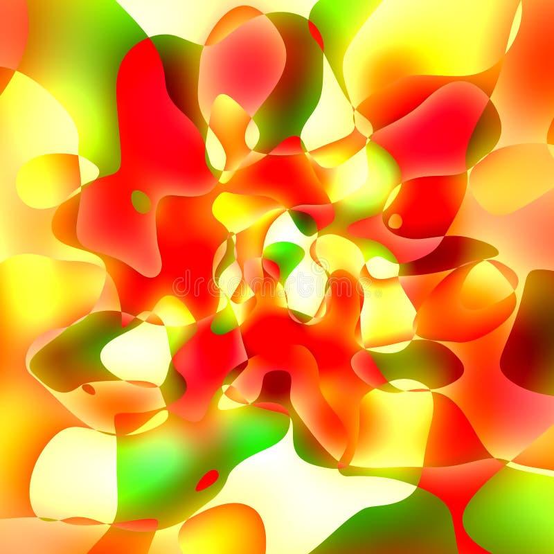 abrégez le fond Style de grunge d'illustration Liquide de couleur orange rouge fleuve de peinture à l'huile d'horizontal de forêt illustration stock