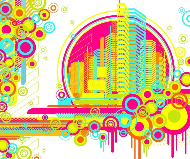 Abrégez le fond urbain. illustration stock