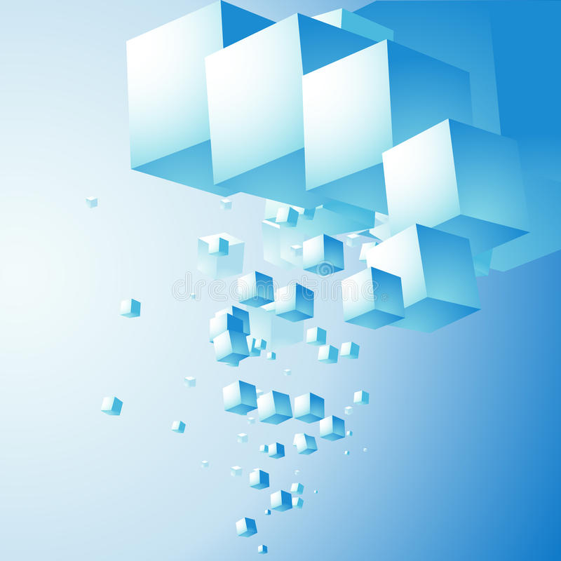 Abrégez le nuage des cubes illustration stock