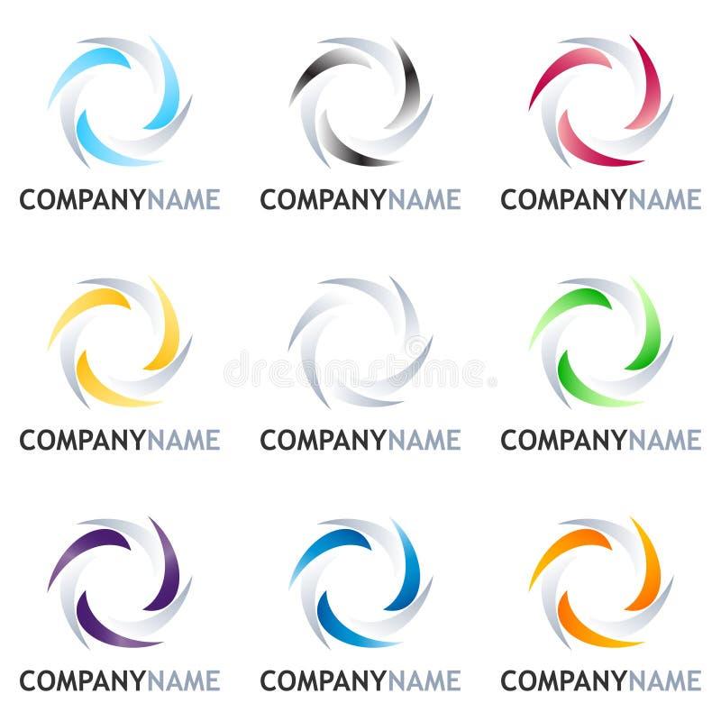Abrégez le positionnement de conception de logo illustration de vecteur