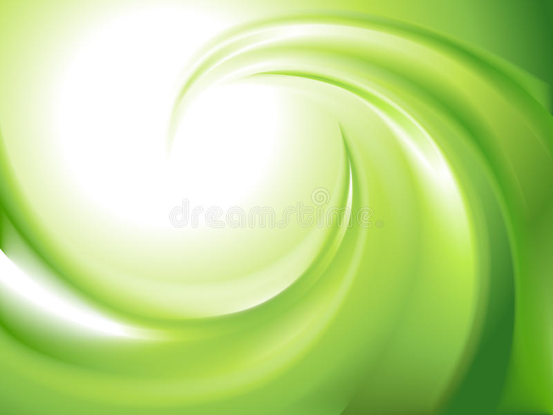 Abrégez le remous vert illustration de vecteur