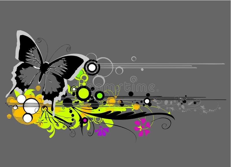 Abrégez le vecteur floral illustration stock