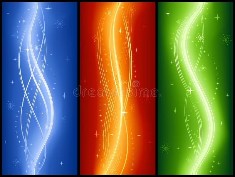 Abrégez les bannes d'onde avec des étoiles, élégantes, festiv illustration libre de droits