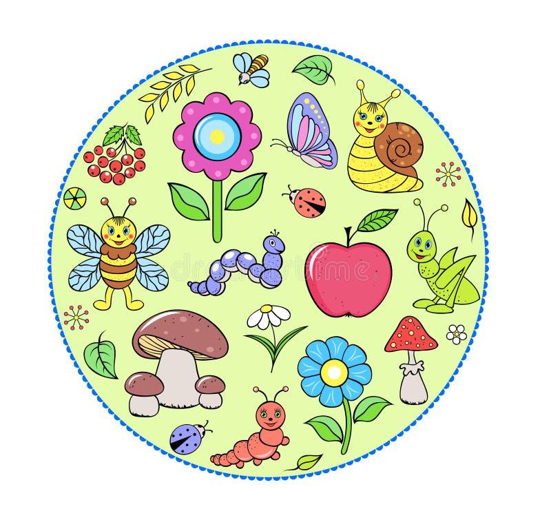 Abrégez les insectes mignons illustration libre de droits