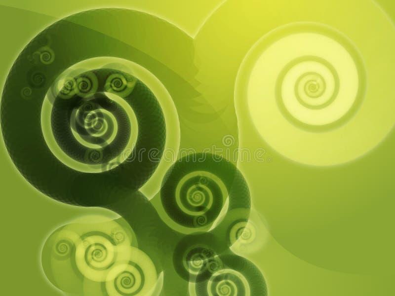 Abrégez les remous spiralés illustration de vecteur