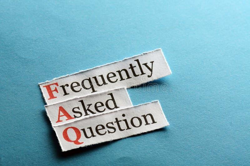 Abréviation de FAQ photo libre de droits