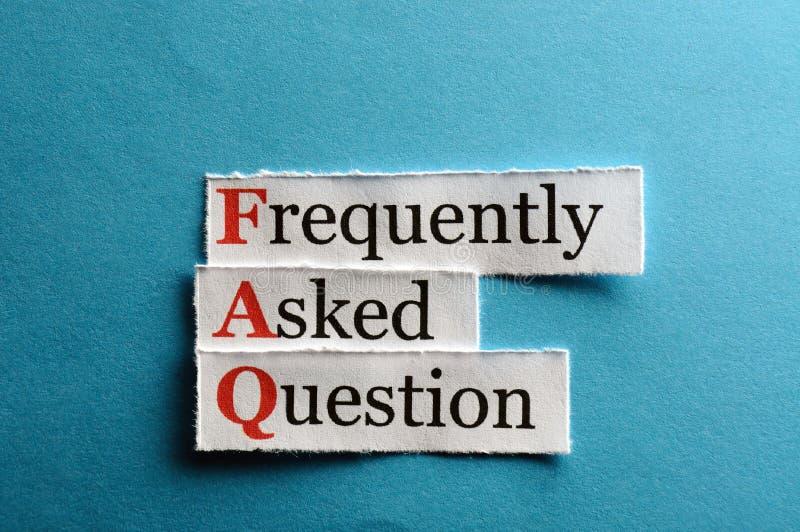 Abréviation de FAQ images libres de droits