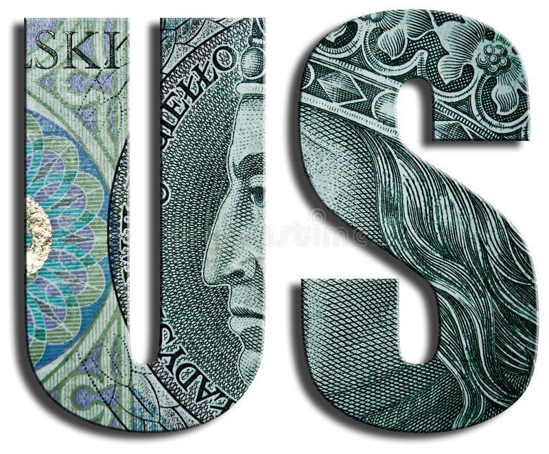 Abréviation liée au service de service des impôts britannique illustration libre de droits