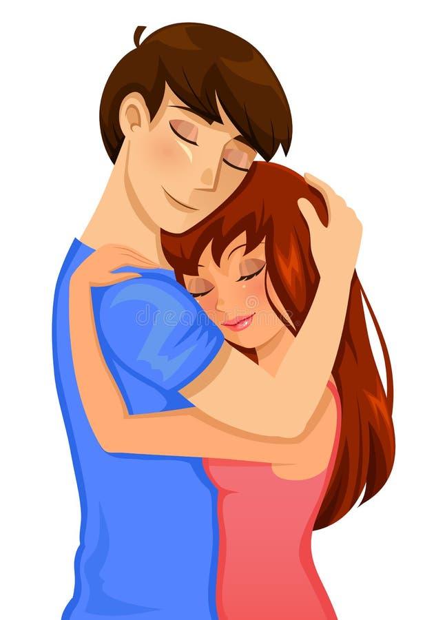 Abraçando pares ilustração royalty free