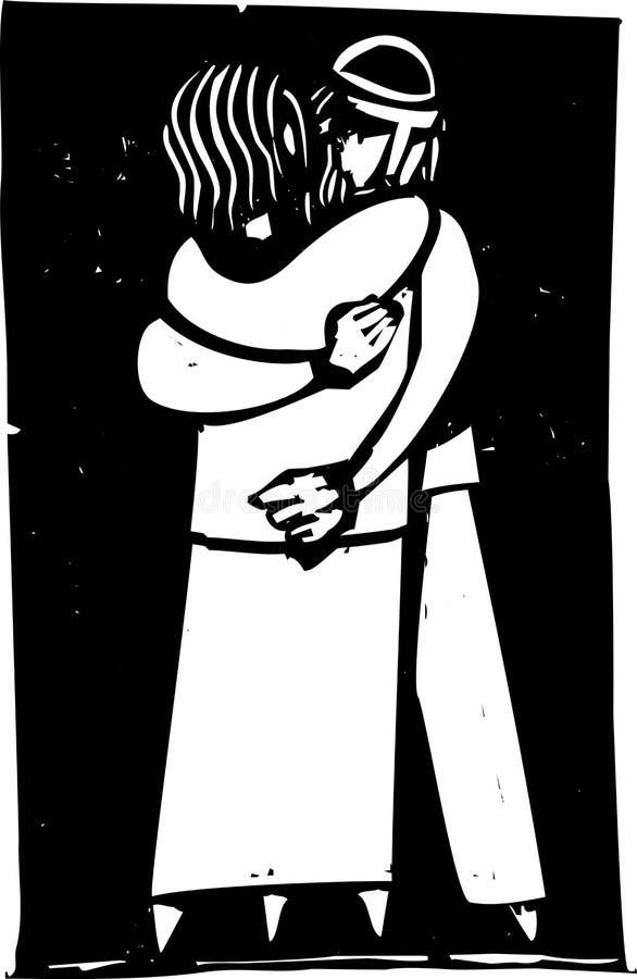 Abraço ilustração do vetor