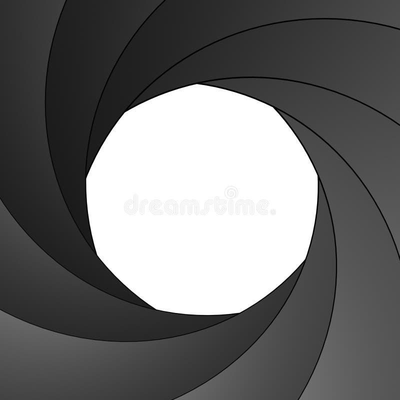 Abra a abertura do obturador ilustração royalty free