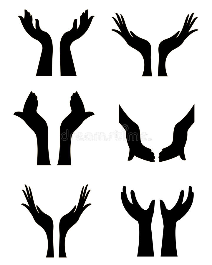 Abra as mãos ilustração stock