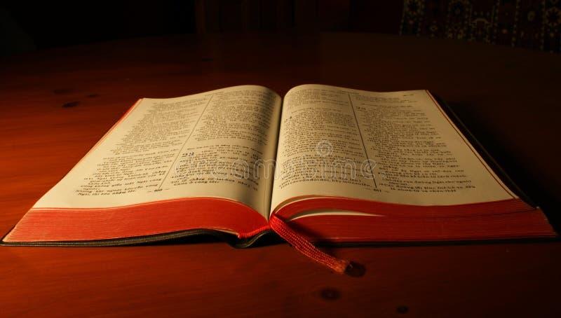 Abra a Bíblia vietnamiana foto de stock